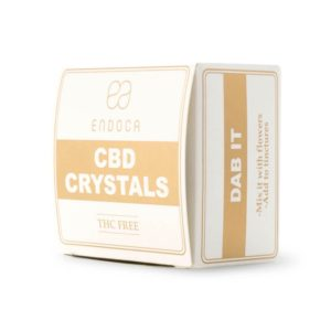 Endoca Cannabis Crystals 99% CBD vaping crystals side